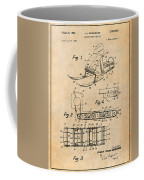 1960 Bombardier Snowmobile Antique Paper Patent Print Coffee Mug