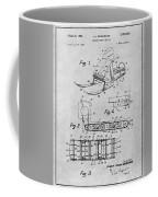 1960 Bombardier Snowmobile Gray Patent Print Coffee Mug