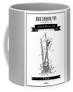 1980 Bong Smoking Pipe - Black Retro Style Coffee Mug