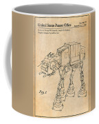 1982 Star Wars At-at Imperial Walker Antique Paper Patent Print Coffee Mug