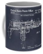 1982 Uzi Submachine Gun Blackboard Patent Print Coffee Mug