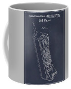 1988 Motorola Cell Phone Blackboard Patent Print Coffee Mug