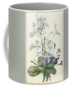 A Bouquet Of Flowers With Insects  Coffee Mug