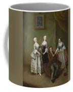 An Interior With Three Women And A Seated Man  Coffee Mug