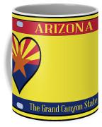 Arizona State License Plate Coffee Mug