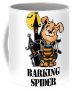 Barking Spider Halloween Design For Dog Lovers Light Coffee Mug