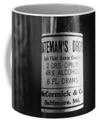 Antique Mccormick And Co Baltimore Md Bateman's Drops Opium Bottle Label - Black And White Coffee Mug