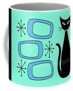 Cat With Mid Century Modern Oblongs Coffee Mug by Donna Mibus