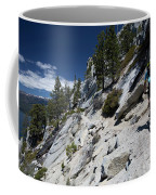 Cyclist On Mountain Road, Lake Tahoe Coffee Mug