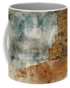 Digital Watercolour Painting Of Beautiful Vibrant Sunset Landsca Coffee Mug