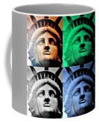 Lady Liberty In Quad Colors Coffee Mug