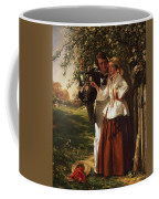 Lovers Under A Blossom Tree Coffee Mug
