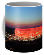 Soccer Stadium Lit Up At Dusk, Allianz Coffee Mug