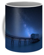 Vibrant Milky Way Composite Image Over Landscape Of Long Exposur Coffee Mug