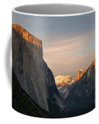 View Of Yosemite Valley From Tunnel View Point At Sunset Coffee Mug