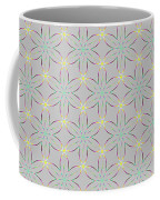 A Repeating Pattern Featuring A Multi-colored Conceptual Flower  Coffee Mug