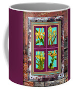 Antique Orchids Quatro On Rusted Metal And Weathered Wood Plank Coffee Mug