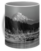Gig Harbor Marina With Mount Rainier In The Background Coffee Mug