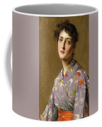 Girl In A Japanese Costume Coffee Mug