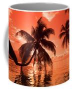 Palm Trees At Sunset, Moorea, Tahiti Coffee Mug
