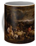 Shepherds And Sheep  Coffee Mug
