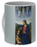 The Virgin And Child With An Angel  Coffee Mug