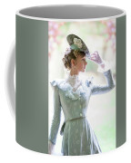 Victorian Woman In The Garden Coffee Mug