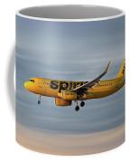 Spirit Airlines Airbus A320-232 Coffee Mug
