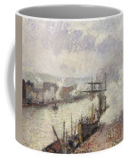 Steamboats In The Port Of Rouen  Coffee Mug