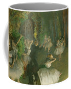The Rehearsal Of The Ballet Onstage  Coffee Mug