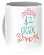 4th Grade Princess Adorable For Daughter Pink Tiara Princess Coffee Mug
