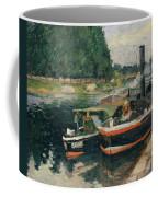 Barges At Pontoise  Coffee Mug