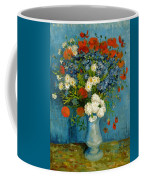 Vase With Cornflowers And Poppies Coffee Mug