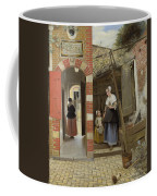 The Courtyard Of A House In Delft  Coffee Mug