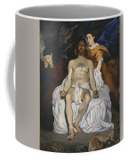 The Dead Christ With Angels  Coffee Mug