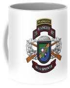 75th Ranger Regiment - Army Rangers Special Edition Over White Leather Coffee Mug