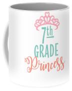 7th Grade Princess Adorable For Daughter Pink Tiara Princess Coffee Mug