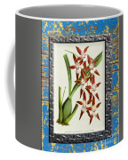 Orchid Framed On Weathered Plank And Rusty Metal Coffee Mug