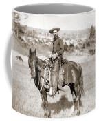 A Cowboy On Horseback, Photo, 19th Century Coffee Mug