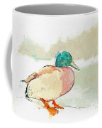 A Migrating Loon, Oslo, Norway -  Watercolor By Adam Asar Coffee Mug