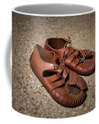 A Pair Of Roman Sandals Made Of Leather Coffee Mug