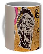 A Terrified Face On A Barcelona Wall  Coffee Mug