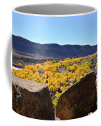 Gorgeous View Of Golden Cottonwood Trees In Canyon Coffee Mug
