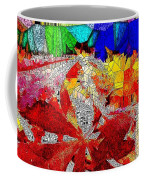 Abstract Fall Acer Stained Glass  Coffee Mug