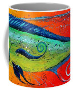 Abstract Mahi Mahi Coffee Mug