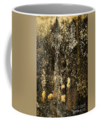 Abstract Scary Ocher Plaster Coffee Mug