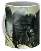 Adult Silverback Gorilla Laying Down With Anguished Expression Coffee Mug