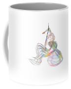 Aerial Hoop Dancing Ribbons For Her Hair Png Coffee Mug