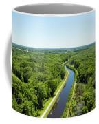 Aerial View Of Vegetation On Landscape Coffee Mug