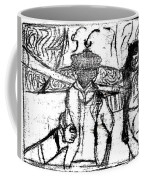 After Billy Childish Black Oil Drawing B2-5 Coffee Mug